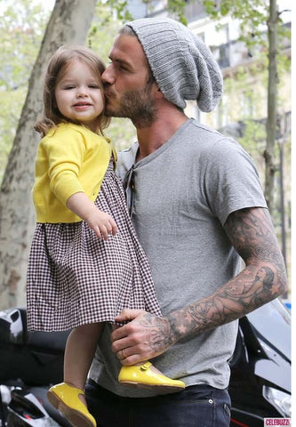 David Beckham with his daughter