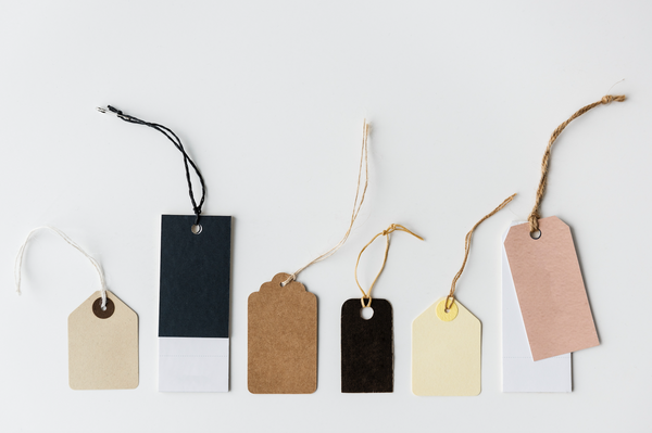 blank tags for luxury brands