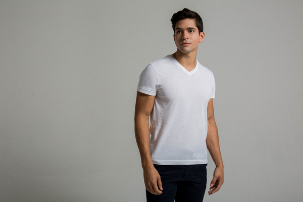 Man wearing stylish luxury T-shirt