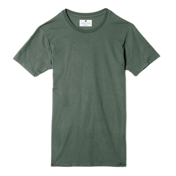 green organic cotton t-shirt - flat