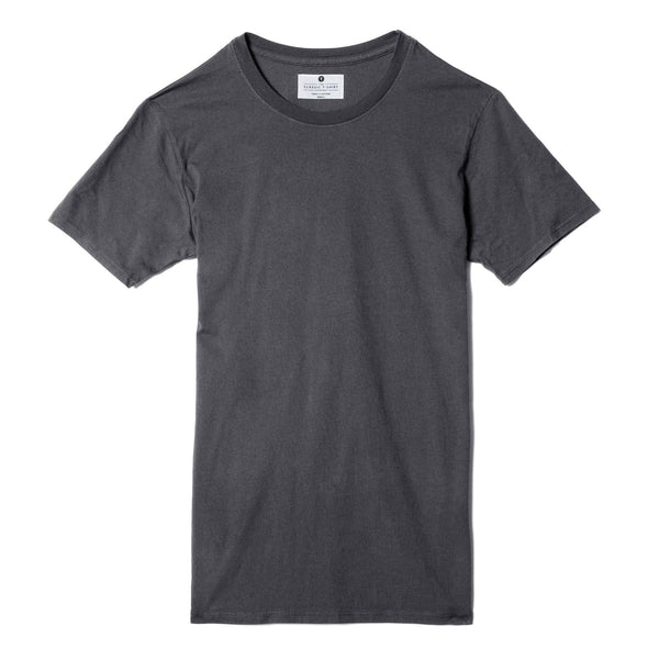 dark-grey organic cotton t-shirt - flat