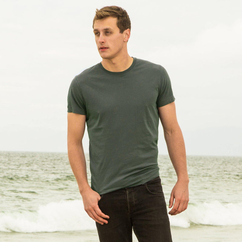 green organic cotton t-shirt - front view