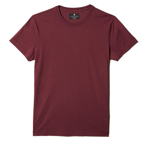 burgundy organic cotton t-shirt - flat view