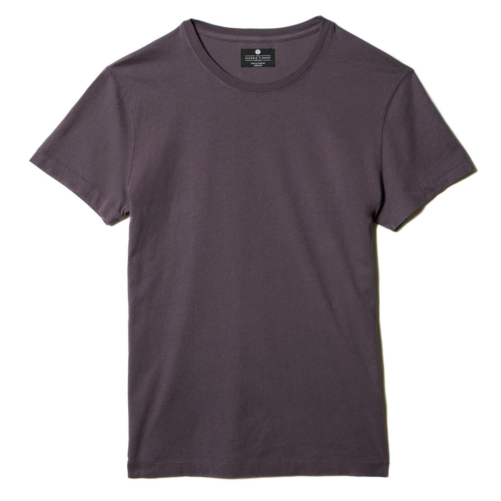 faded-purple organic cotton t-shirt - flat view