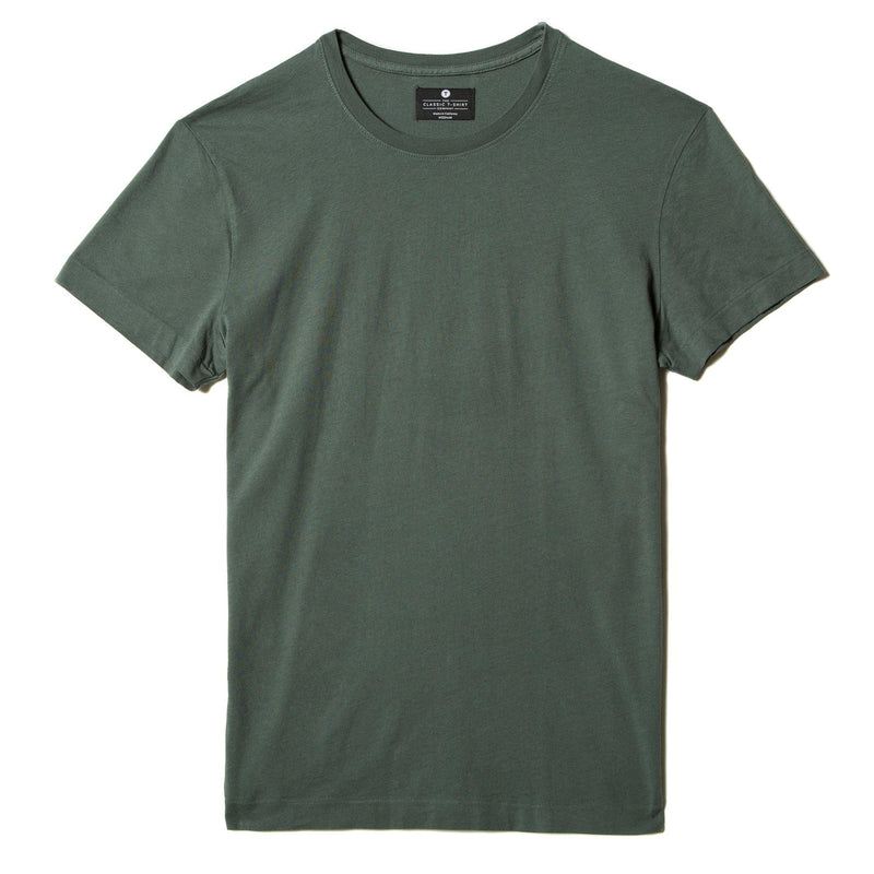 green organic cotton t-shirt - flat view