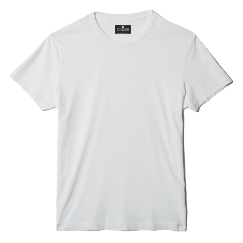 white organic cotton t-shirt - flat view