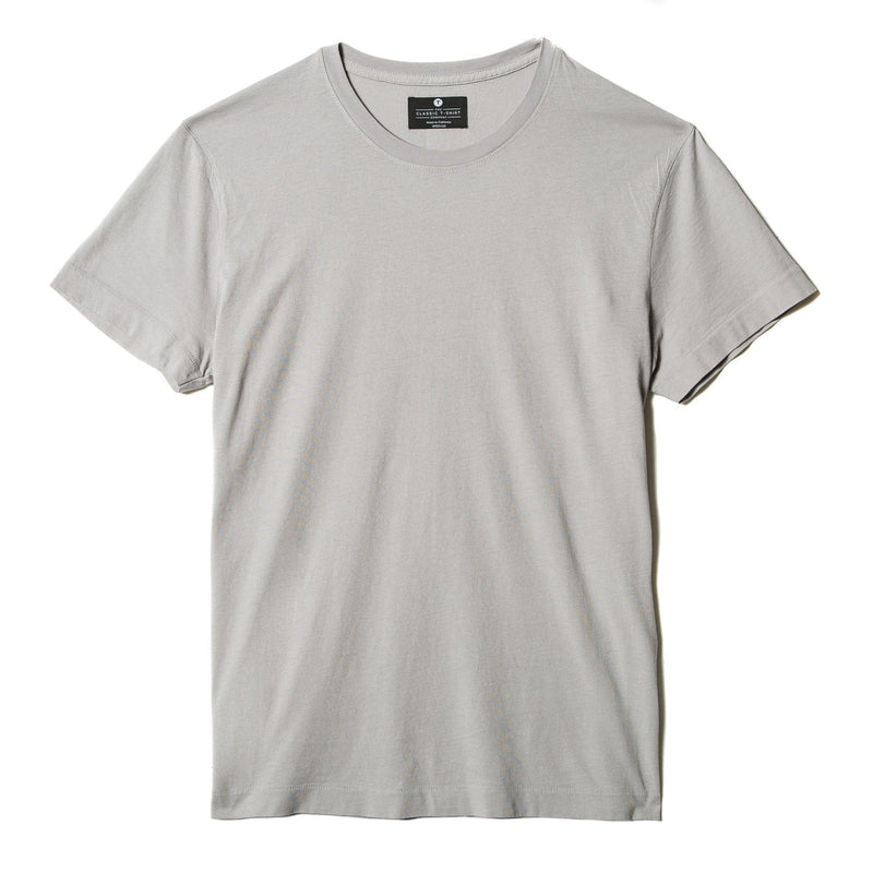 light-grey organic cotton t-shirt - flat view