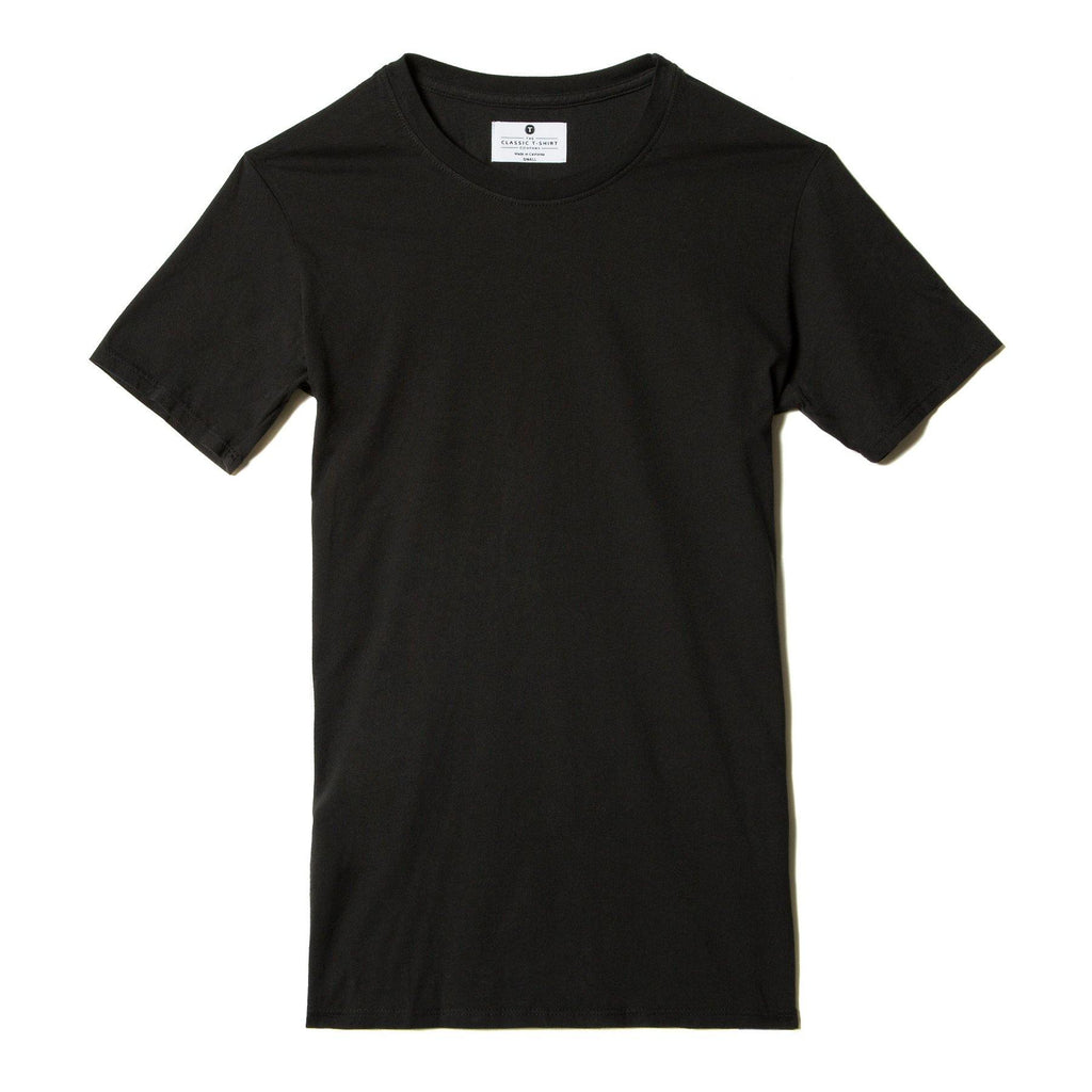 black organic cotton t-shirt - flat