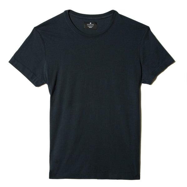 navy-blue organic cotton t-shirt - flat view