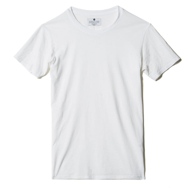 white organic cotton t-shirt - flat