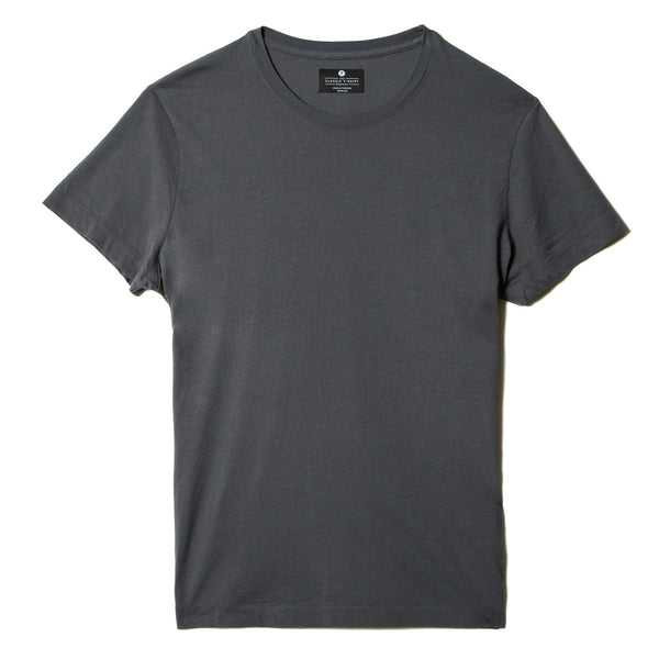 dark-grey organic cotton t-shirt - flat view