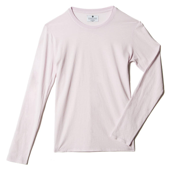light-pink organic cotton Long Sleeve crewneck t-shirt - flat