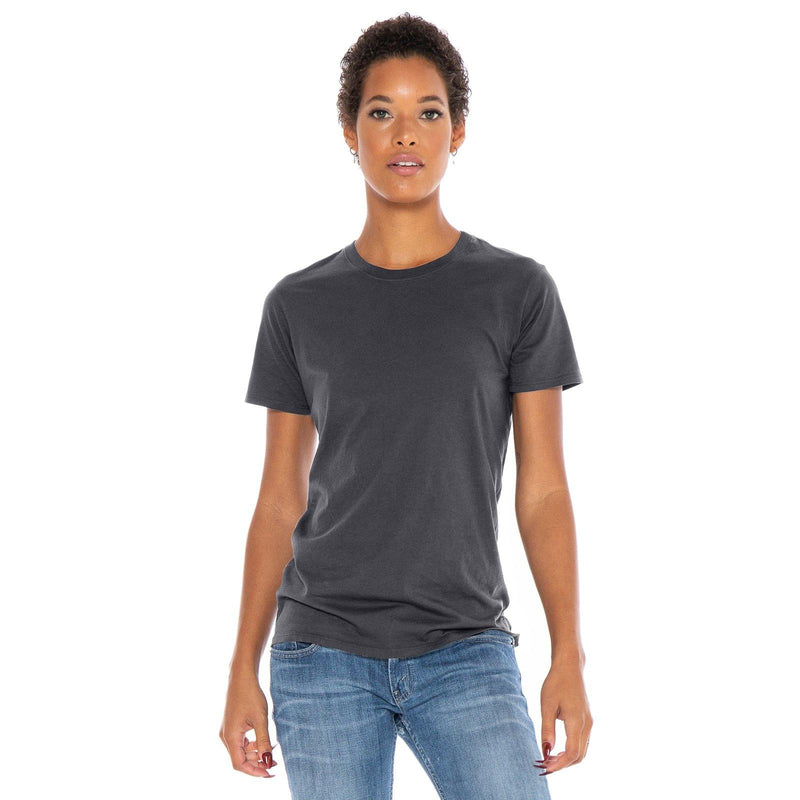 dark-grey organic cotton t-shirt - front view