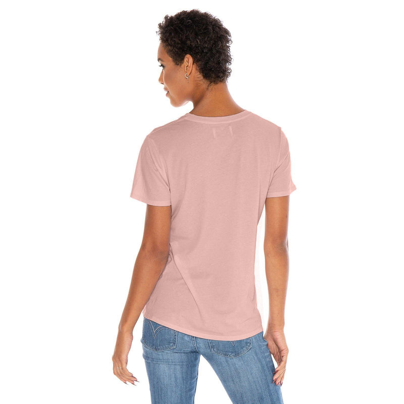 blush organic cotton V-Neck t-shirt - back view