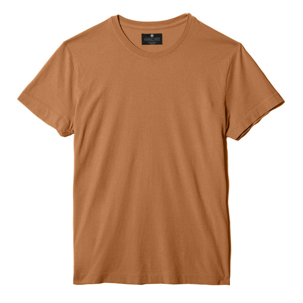 copper organic cotton t-shirt - flat view