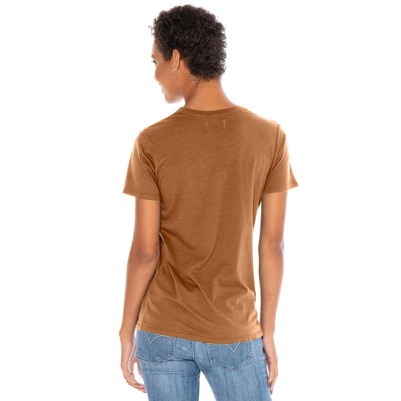 copper organic cotton V-Neck t-shirt - back view