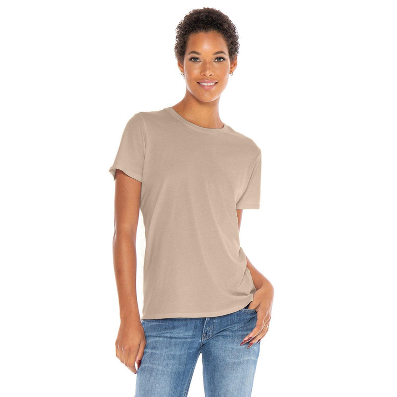 sand organic cotton t-shirt - front view
