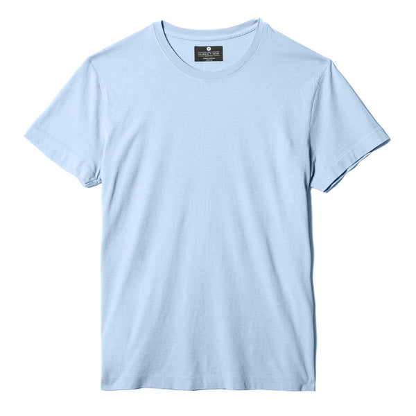 sky-blue organic cotton t-shirt - flat view