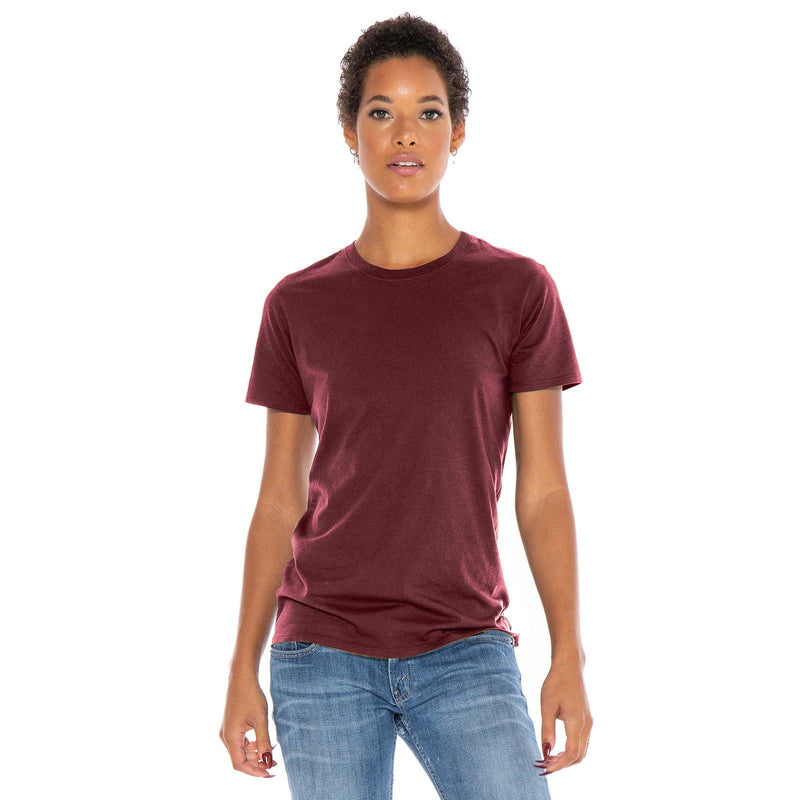 burgundy organic cotton t-shirt - front view