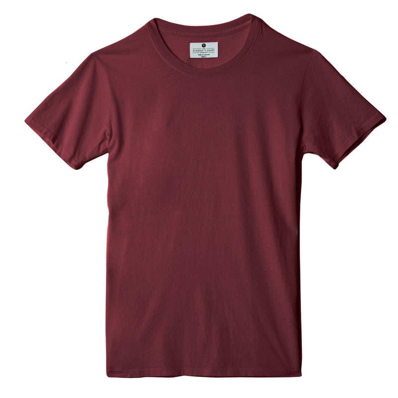 burgundy organic cotton t-shirt - flat