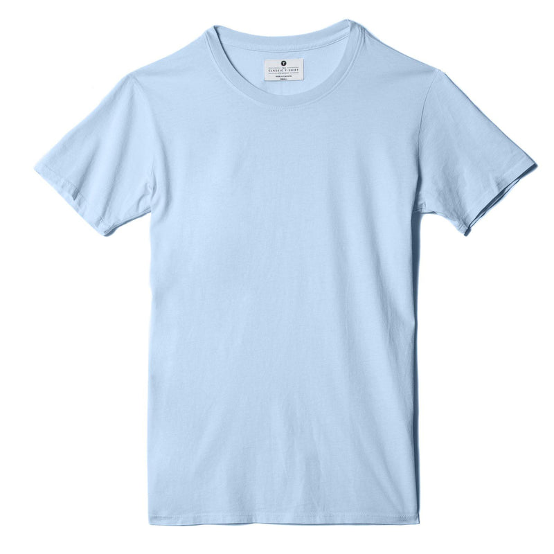 sky-blue organic cotton t-shirt - flat