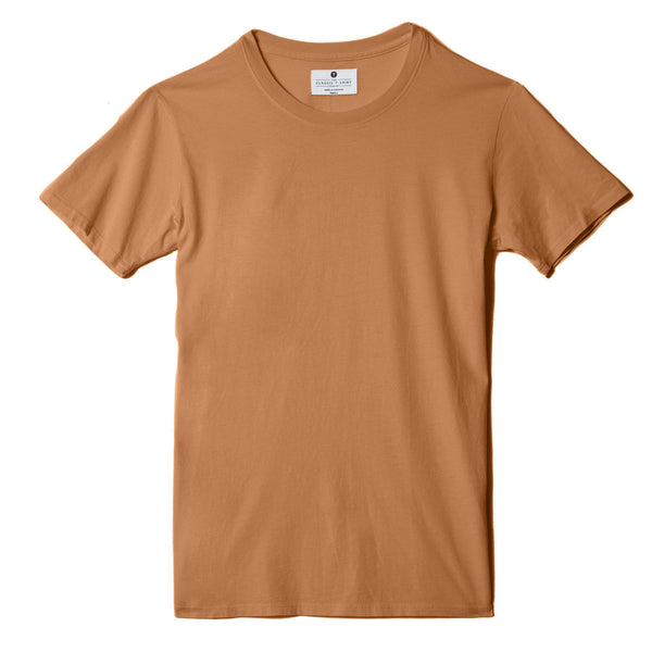 copper organic cotton t-shirt - flat