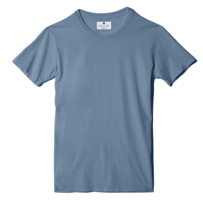 dusk-blue organic cotton t-shirt - flat