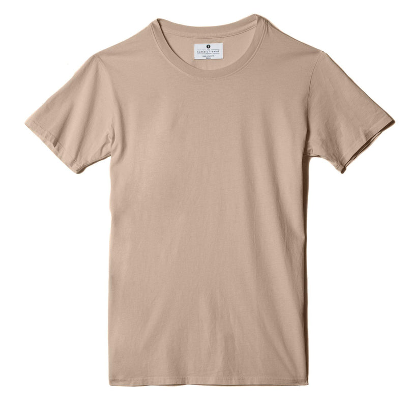 sand organic cotton t-shirt - flat