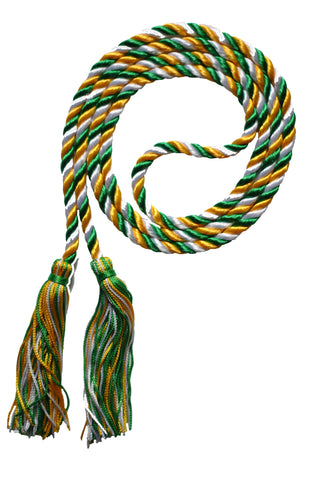 gold green and white honor cord from senior class graduation products