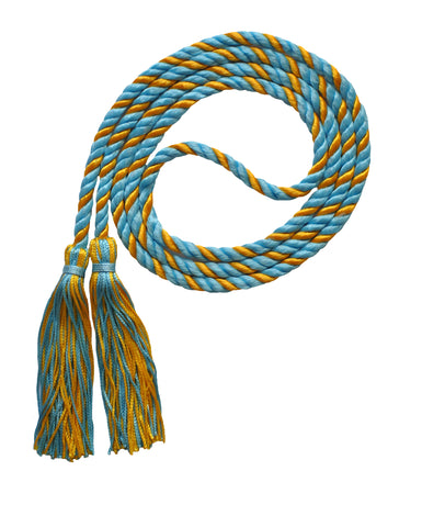 light blue and white honor cord from senior class graduation products