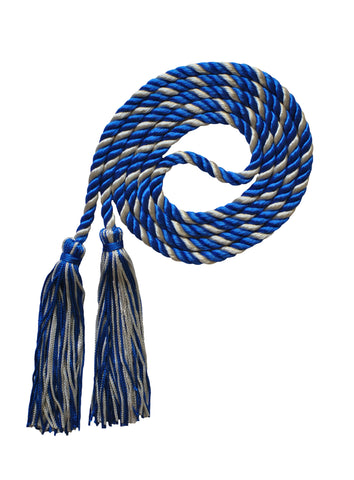 royal blue silver honor cord from senior class graduation products