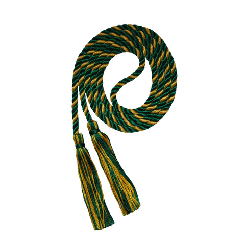 dark green and gold honor cord from senior class graduation products