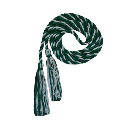 green and gray silver honor cord from senior class graduation products