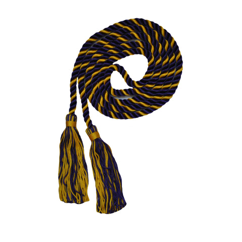 navy and gold honor cord from senior class graduation products