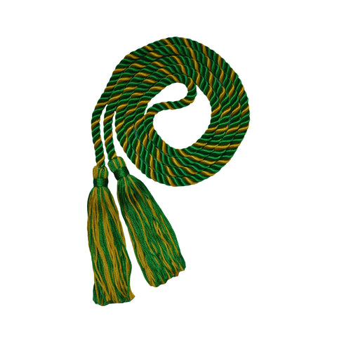 green and gold honor cord from senior class graduation products
