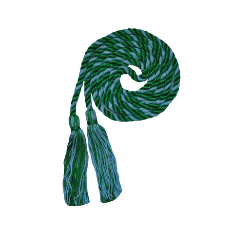 light blue and kelly green honor cord from senior class graduation products
