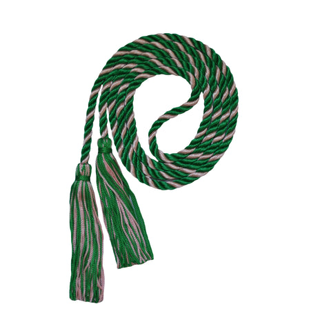 kelly green and pink honor cord from senior class graduation products
