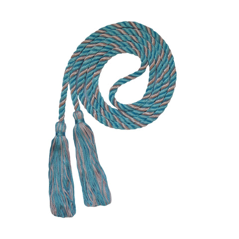 pink and light blue honor cord from senior class graduation products