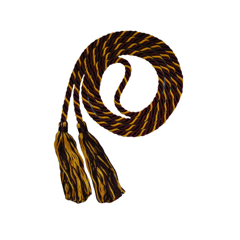 maroon and gold honor cord from senior class graduation products