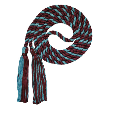 maroon and light blue honor cord from senior class graduation products