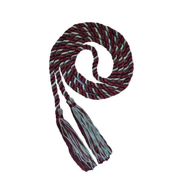 maroon silver gray honor cord from senior class graduation products
