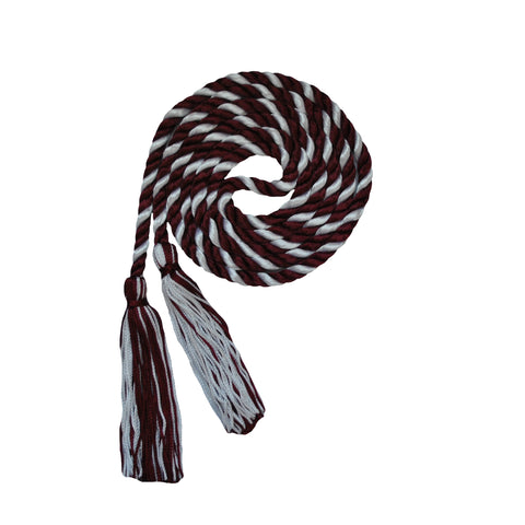 burgundy and white honor cord from senior class graduation products