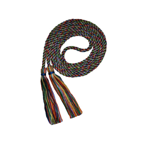 rainbow multi honor cord from senior class graduation products