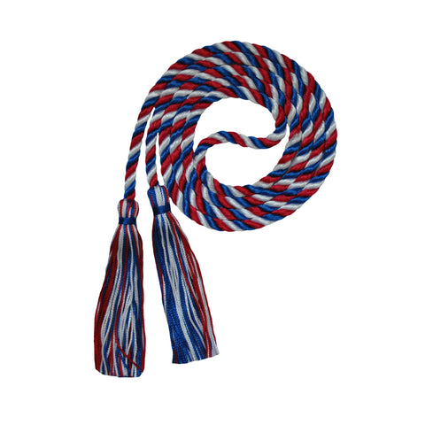 red white royal honor cord from senior class graduation products