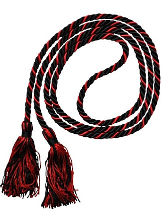Black-Red graduation honor cord from Senior Class Graduation Products