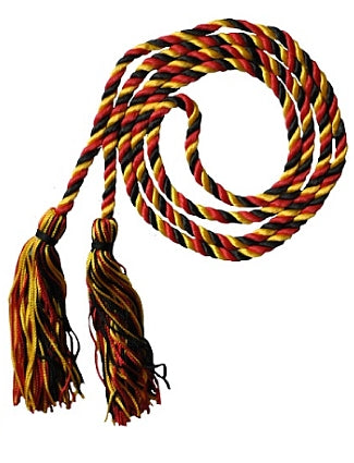 Black-Bright Gold-Red graduation honor cord from Senior Class Graduation Products