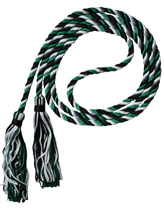 Black-White-Green graduation honor cord from Senior Class Graduation Products