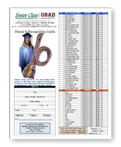 Honor Cords Order Form