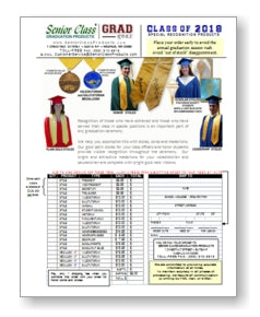 Honor Stoles and Class Officer Stoles Order Form