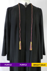 senior class graduation products purple bright gold cord